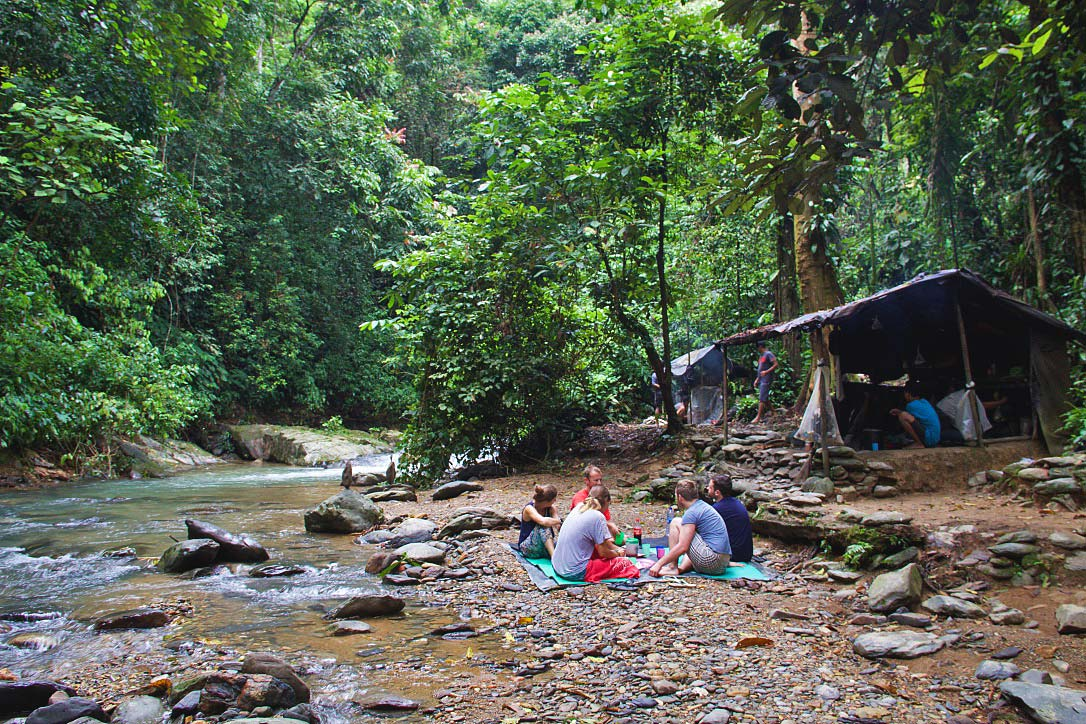 breakfast jungle trekking bukit lawang sumatra