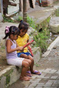 girls bukit lawang village sumatra