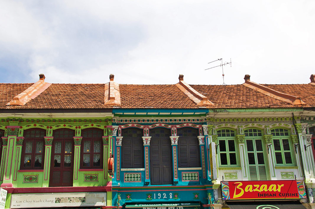 Peranakan shophouses katong neighborhood singapore