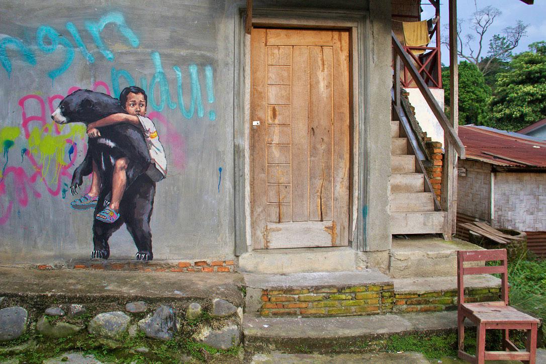 street art bukit lawang sumatra