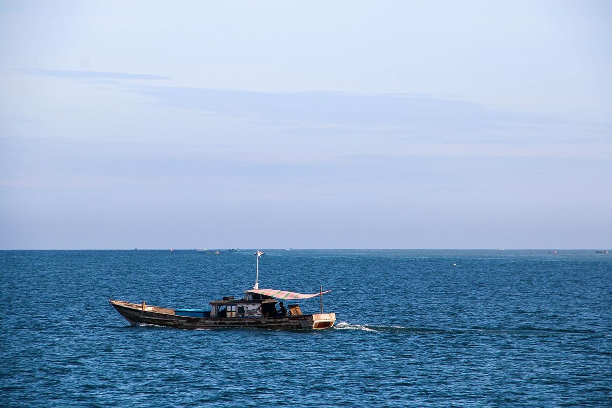 Fishermen boat in Pulau Weh Sumatra