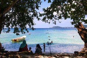 Gapang beach in Pulau Weh Sumatra