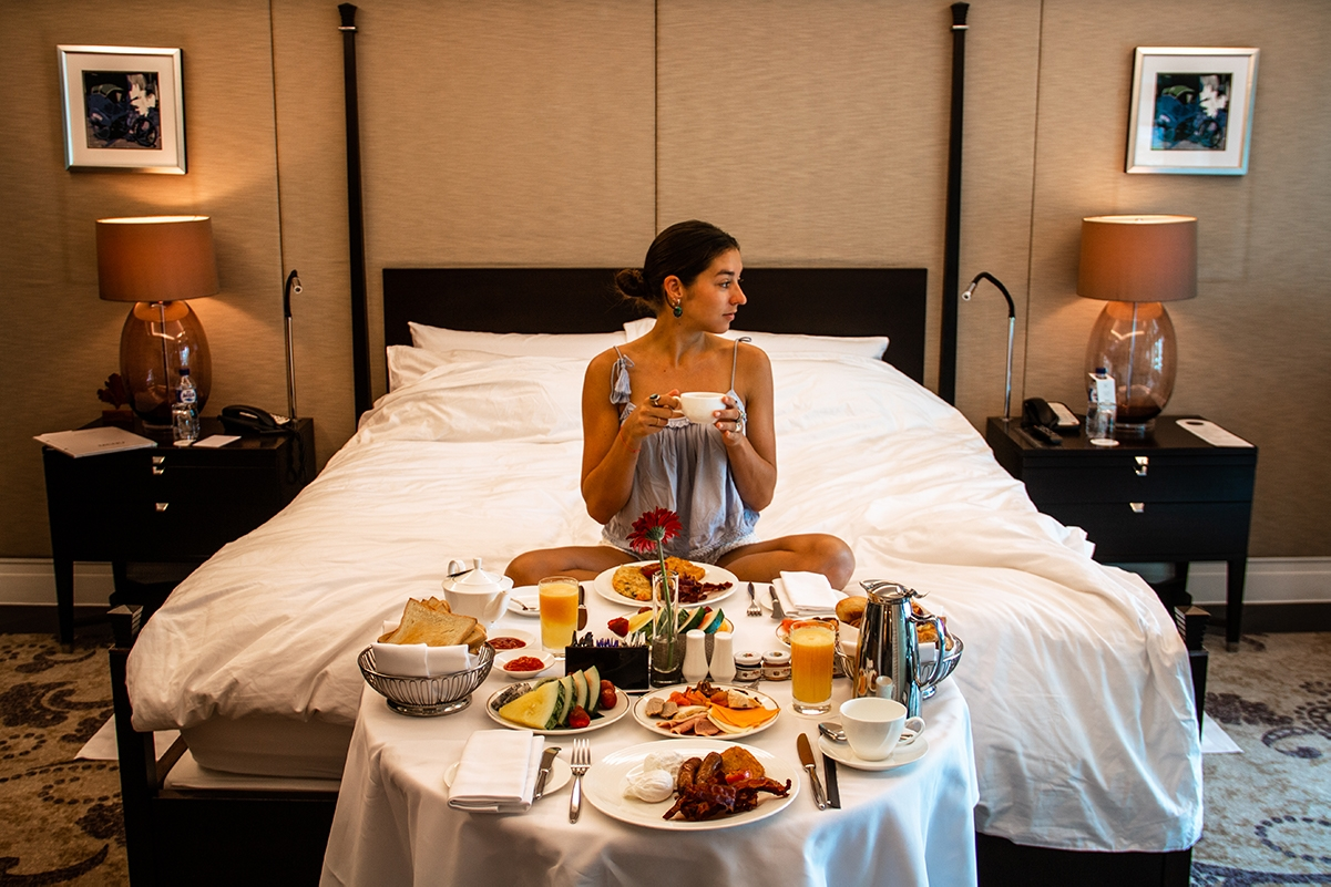 Roomservice breakfast at Hotel Indonesia Kempinski Jakarta