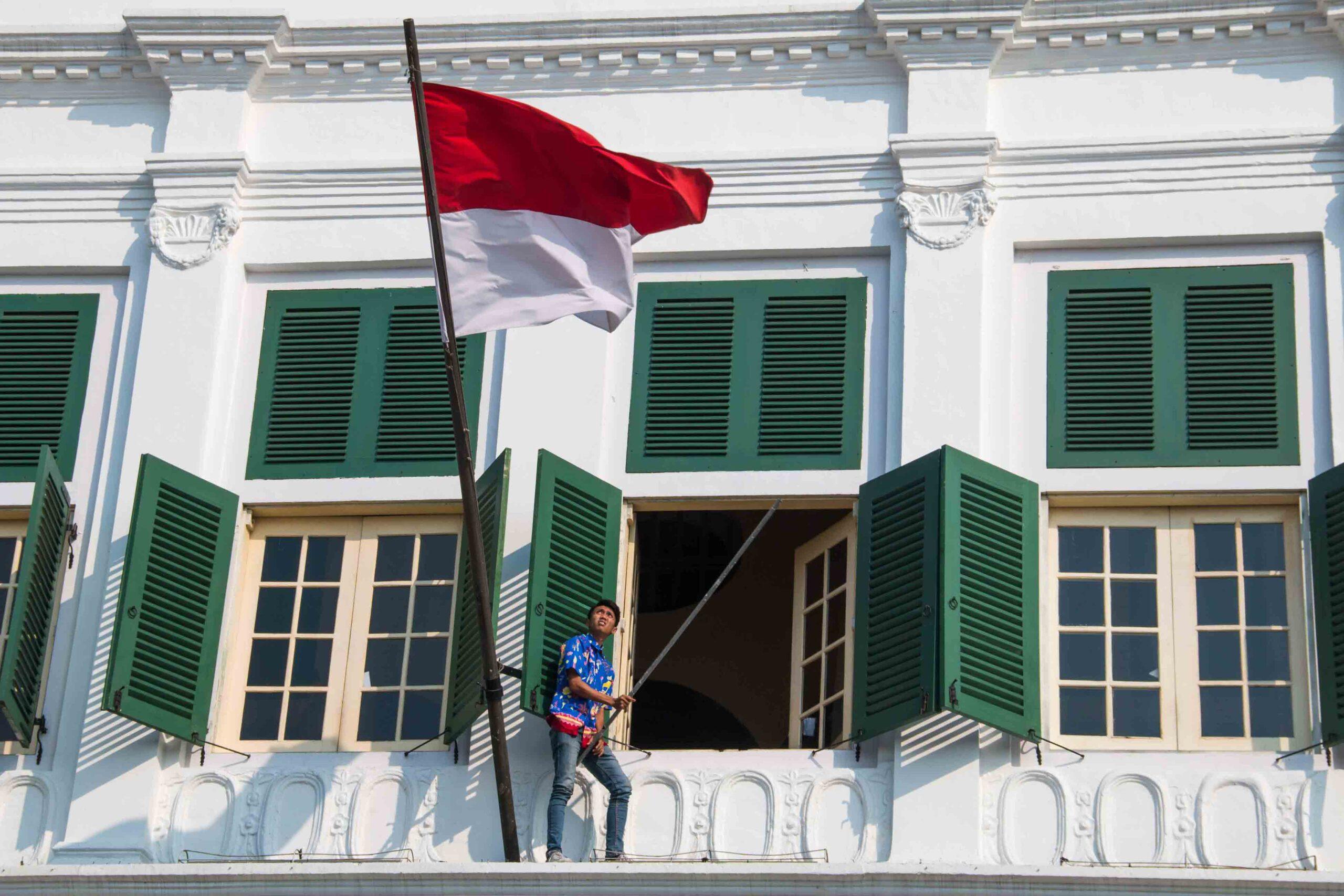 indonesian flag museum sejarah jakarta batavia