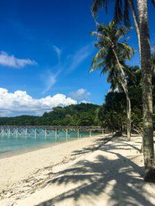 Long beach in Pulau Wel Sumatra