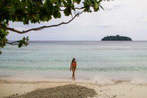 Long beach on Pulau Weh Sumatra