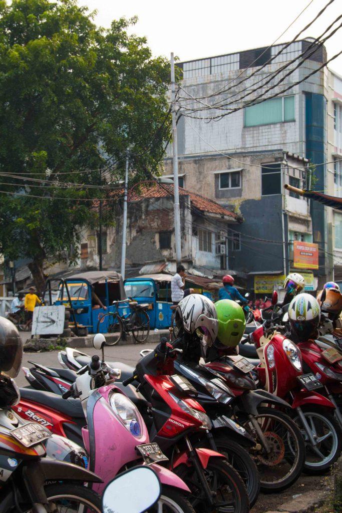 motorbikes jakarta streets