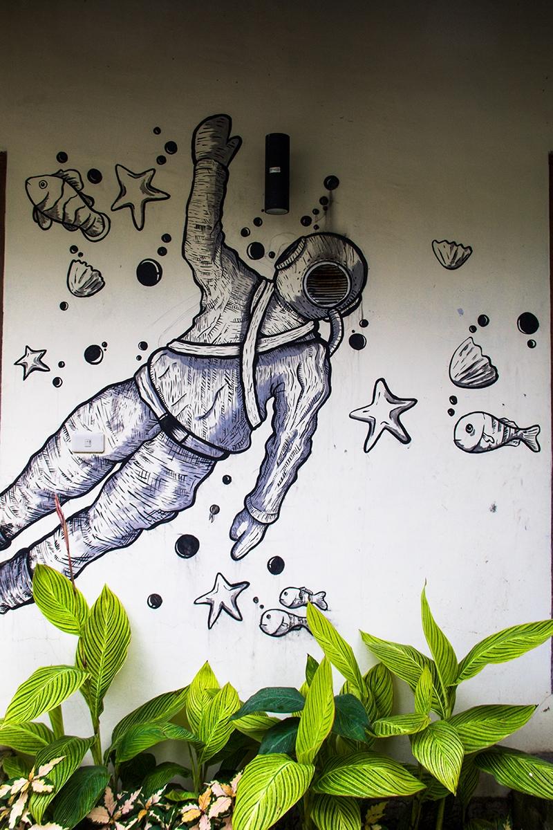 Murals at Casa Nemo in Pulau Weh