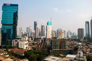 Jakarta skyline in Indonesia