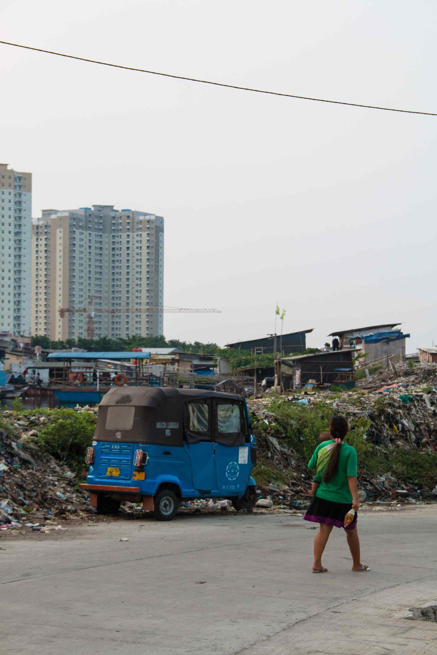 Slums at Kota Batavia in Jakarta