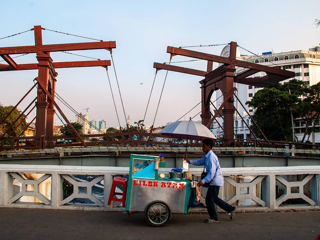 Street life in Jakarta Indonesia