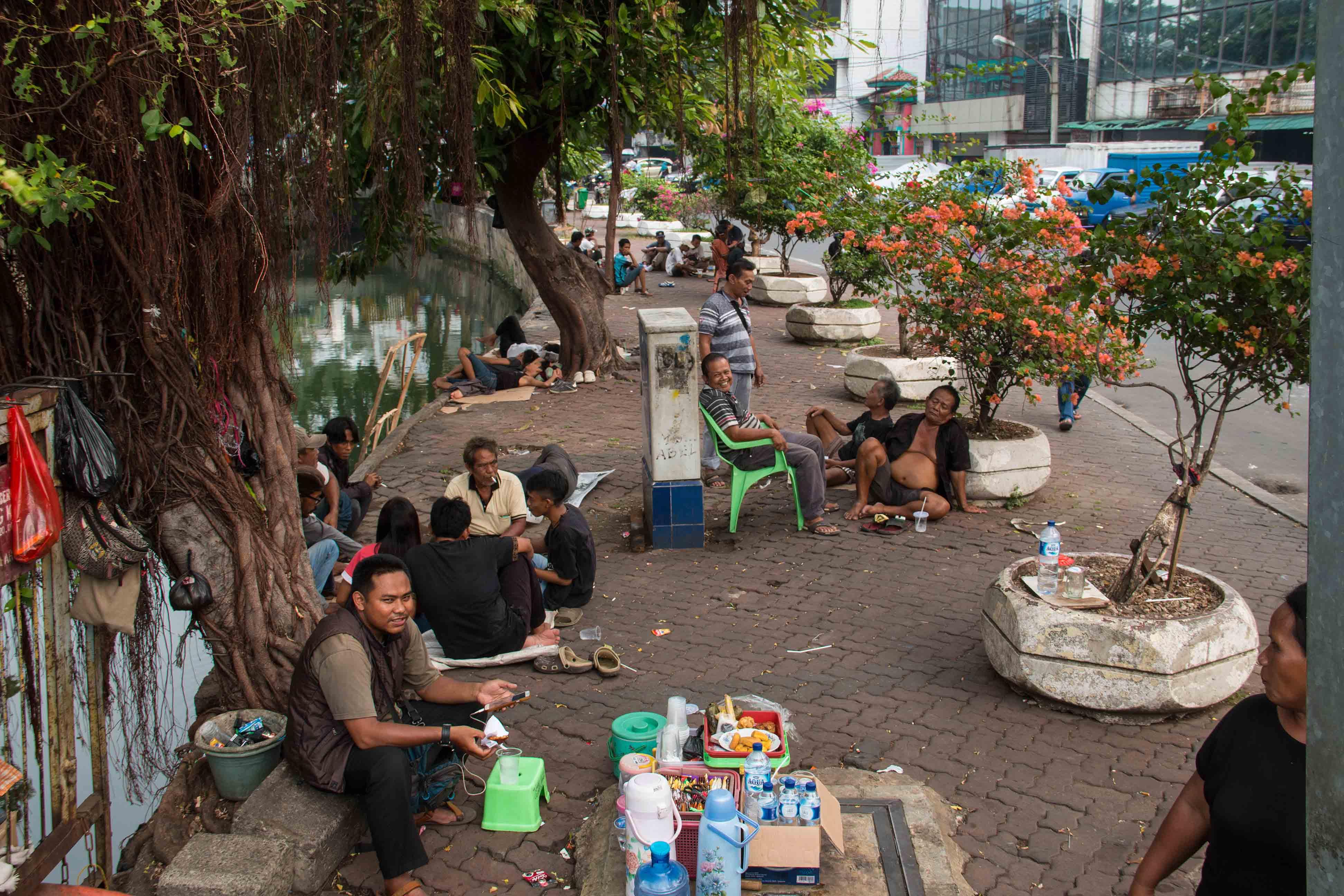 people streets jakarta