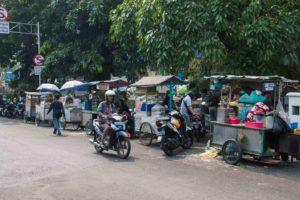 Street vendors in Jakarta Indonesia