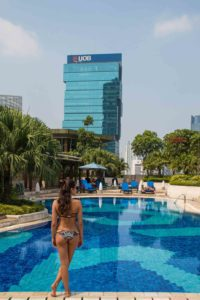 swimming pool rooftop hotel indonesia kempinski jakarta