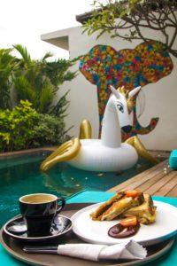 Breakfast at 4 Quarters in Canggu Bali