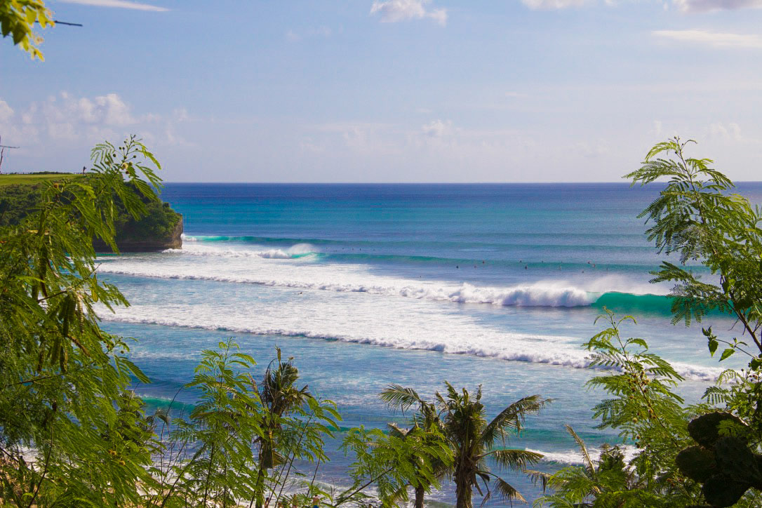 balangan beach surfing waves bali