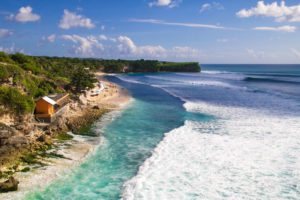 balangan beach view surfing bali