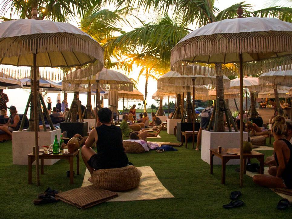 The Lawn beach club in Canggu Bali