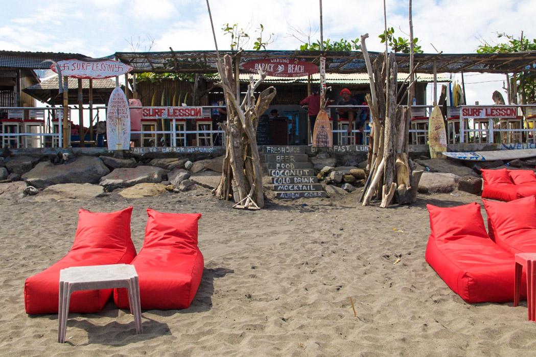 Beach bar at Echo beach Canggu