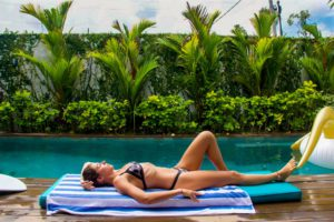 Swimming pool at 4 Quarters Canggu Bali