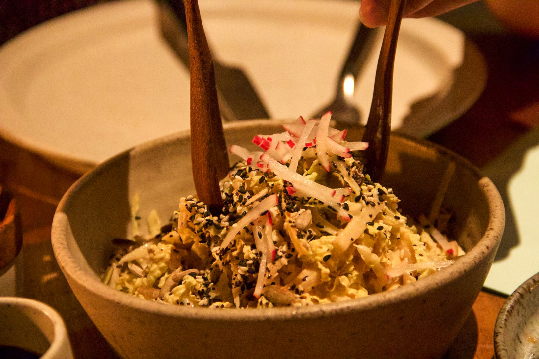 Coleslaw salad at restaurant The Slow in Canggu