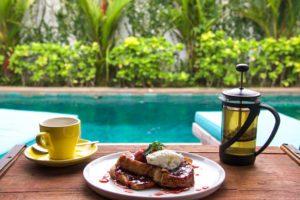 french toast breakfast 4quarters villa canggu bali