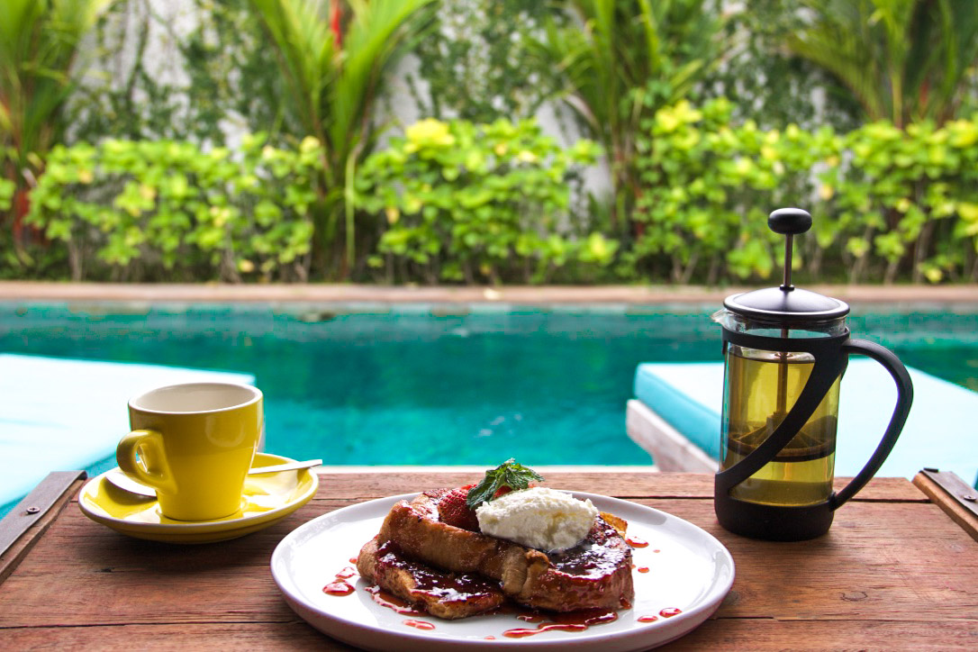 french toast breakfast 4quarters villa canggu bali
