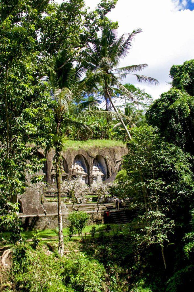 gunung kawi temple rice fields bali