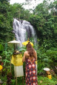 hindu offering munduk waterfall north bali