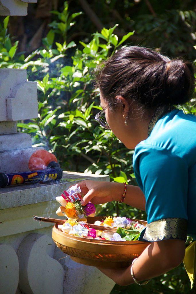 hindu offering sandat glamping tents ubud bali