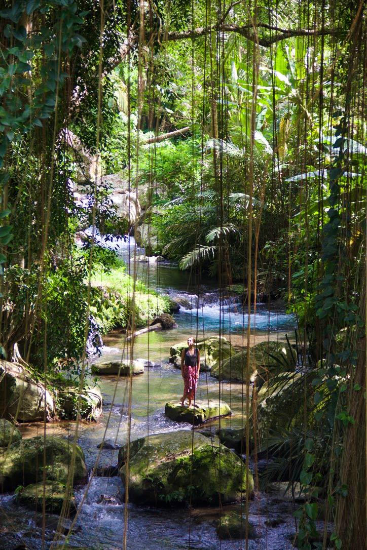 jungle gunung kawi river bali