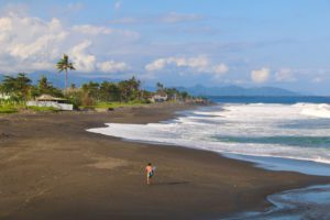 keramas beach surfing bali