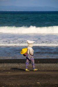 local woman keramas beach bali