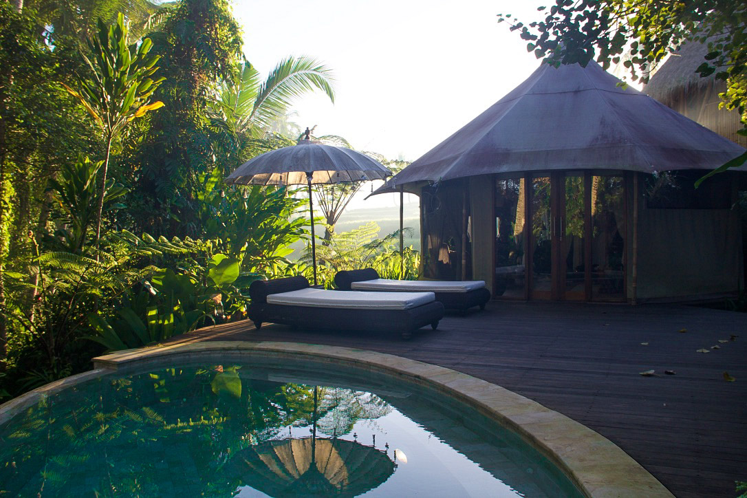 morning light sunrise sandat glamping tents ubud
