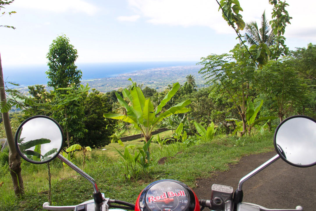 scooter north bali view hills