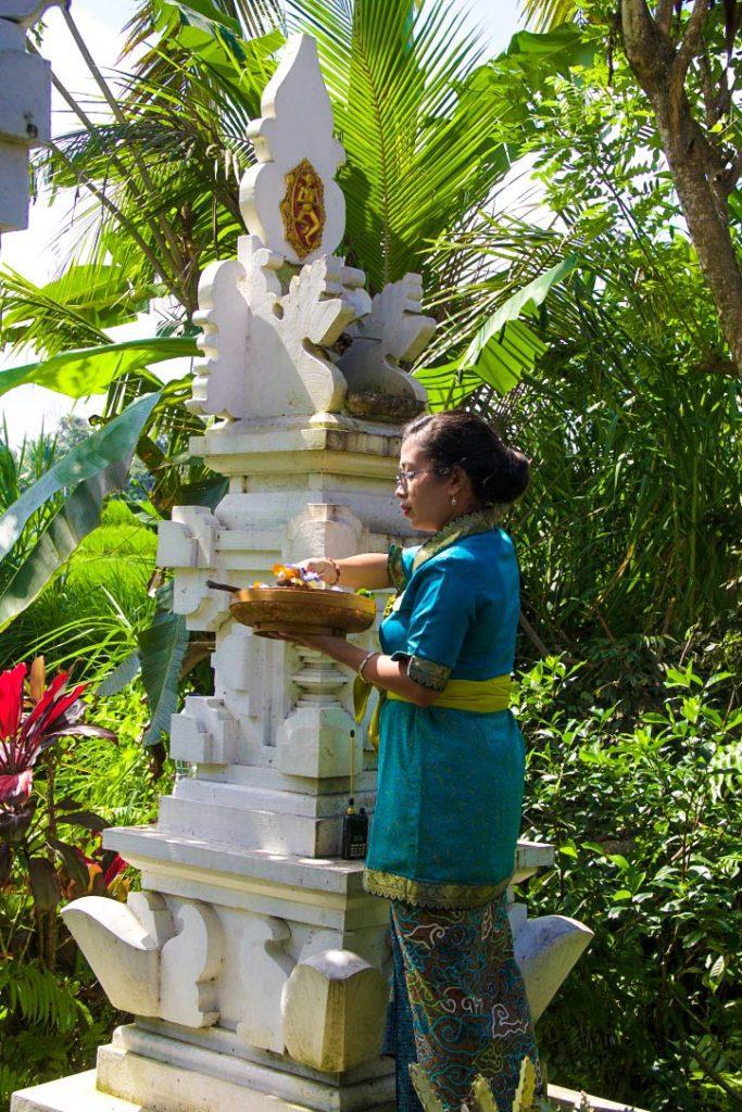 offering hindu sandat glamping tents ubud