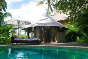private swimming pool sandat glamping tents ubud bali