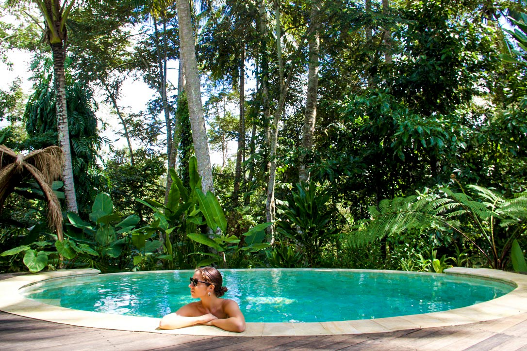 private swimming pool sandat glamping tents ubud