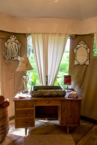 Bathroom at Sandat Glamping Tents in Ubud