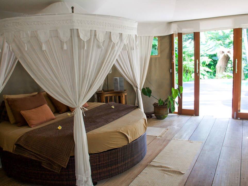 sandat glamping tents bedroom ubud