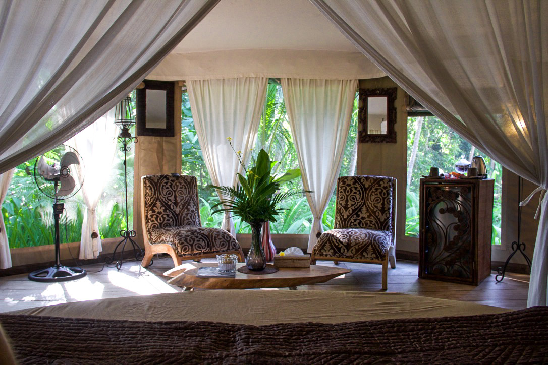 Sandat Glamping tents room in Ubud Bali