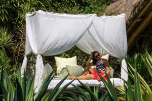 Sandat Glamping Tents garden in Ubud Bali