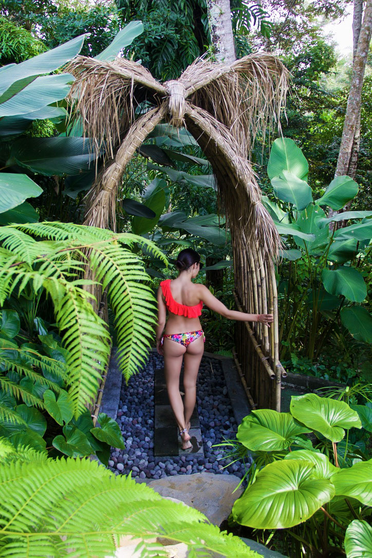 sandat glamping tents outdoor shower ubud