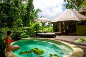 sandat glamping tents ubud swimming pool bali