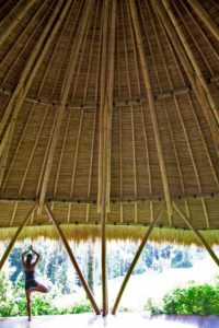 sandat glamping tents yoga lesson ubud bali