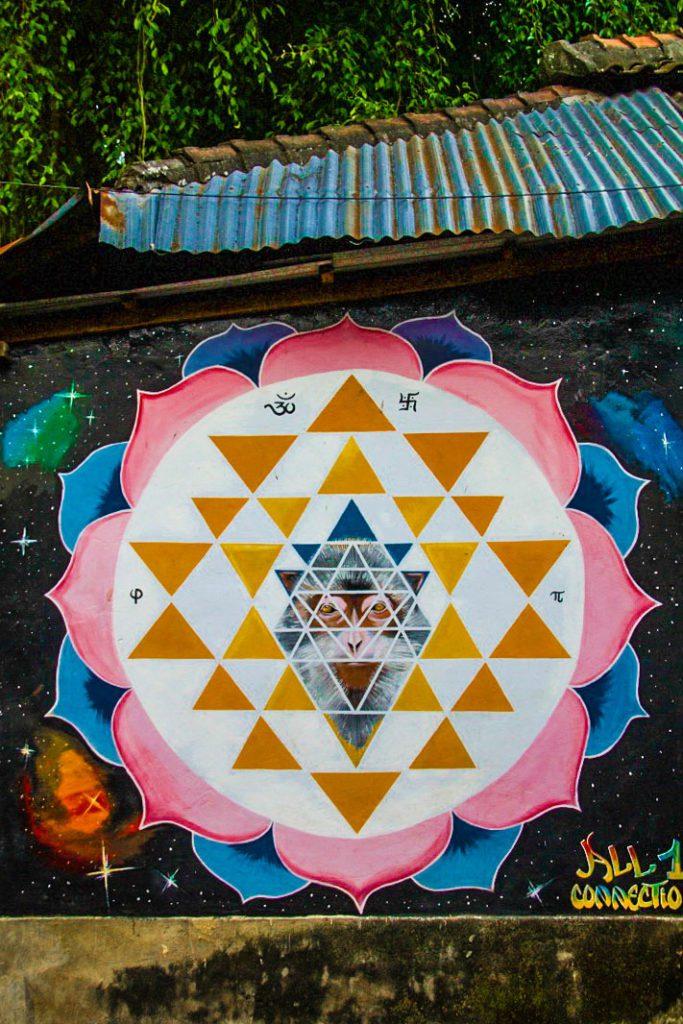 street art monkey ubud bali