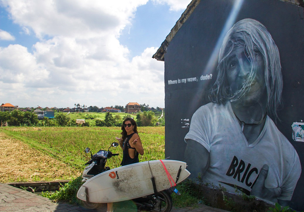street art surfing canggu bali