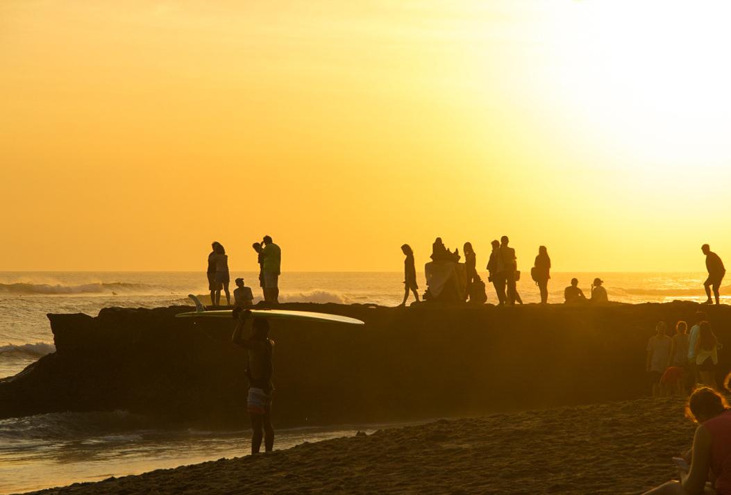 Sunset at Batu Bolong beach in Canggu