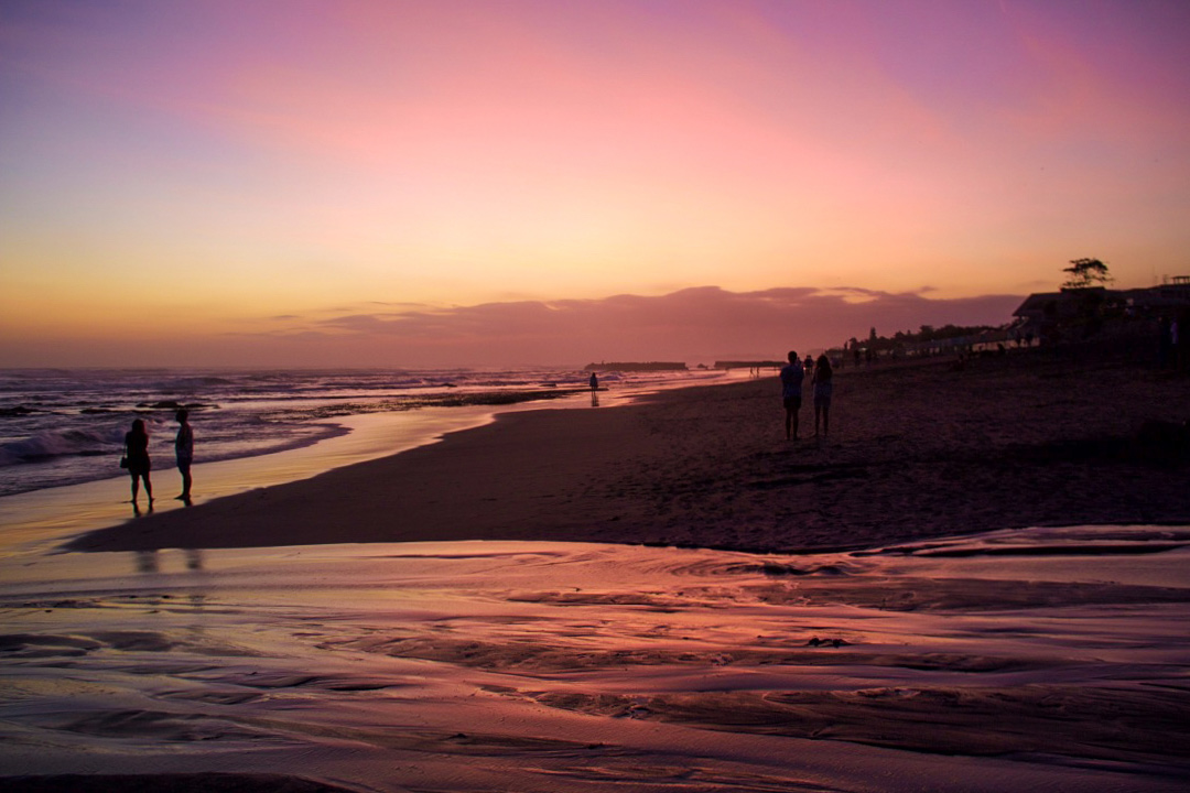 sunset canggu beach bali