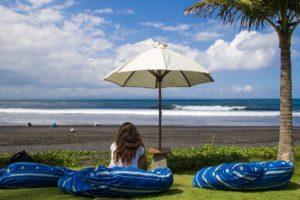 surfing beach keramas komune resort bali